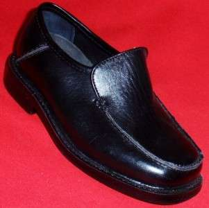 NEW Boys Toddlers KK STEVE Black Loafers Dress Shoes size 5 M |