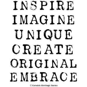 Big Inspiration (Words) Cling Mounted Red Rubber Stamp Set