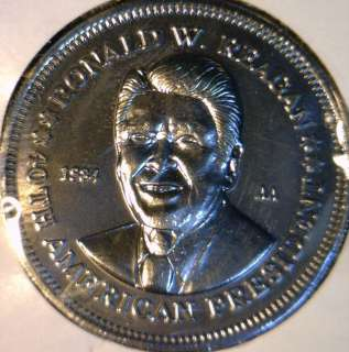 1984 Ronald Reagan Commemorative Double Eagle Reverse Medal   Token