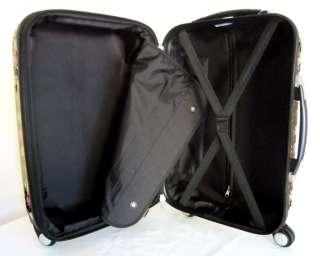 Luggage Set Hard Rolling 4 Wheels Spinner Travel Bag Pink Skulls Stars