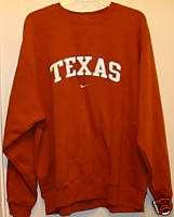New Mens Sz L Nike Texas Longhorns TX Orange Sweatshirt