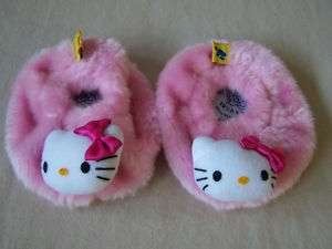 Adorable Build A Bear Pink Hello Kitty Slippers Plush