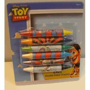 Toy Story ~ 6 Pack Double Side Crayons Toys & Games