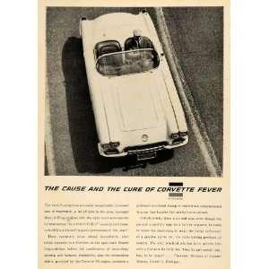 1959 Ad Vintage V8 Chevrolet Corvette General Motors