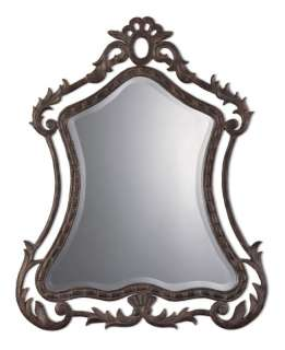 Ornate/Dark/Gold/Bronze/Wall/Vanity/Mirror 30.5x37.25