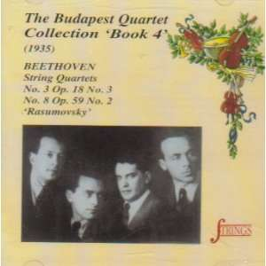 Budapest Quartet Collection Book 4 1935  Beethoven String Quartets
