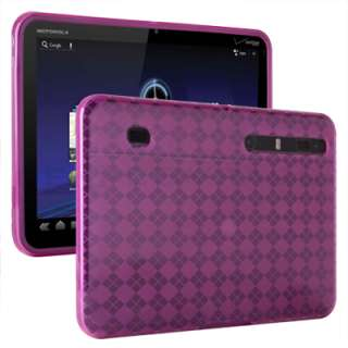 Pink TPU Soft Gel Skin Cover Case For Motorola Xoom Wifi 3G