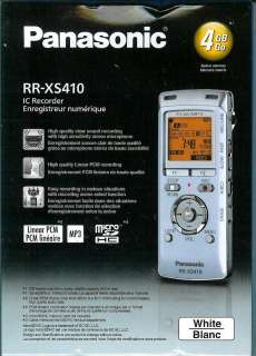 RR XS410 4GB IC Digital Voice Recorder w/USB to PC Link White