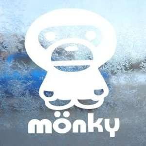 Anime Monkey Cartoon White Decal Car Window Laptop White