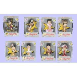 PVC 8 Piece SET of 4 Mini Betty Boop Figures Eight Assorted Styles