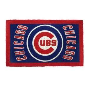 30 MLB Chicago Cubs Natural Coir Fiber Welcome Mat Home