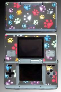 Dog Puppy Paws Print Monogram SKIN #11 for Nintendo DS