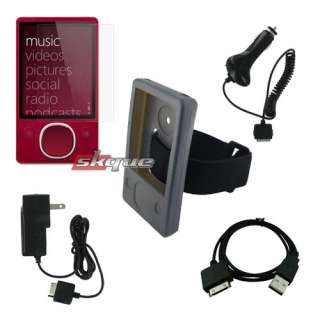 LCD Protector+Wall+Car Charger+USB Cable for Microsoft Zune 80GB 120GB