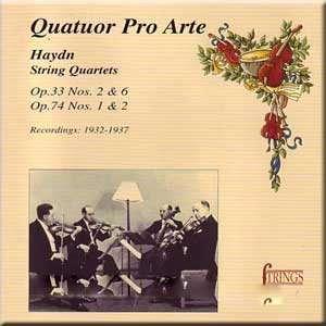 Haydn String Quartets Franz Joseph Haydn, Pro Arte Quartet