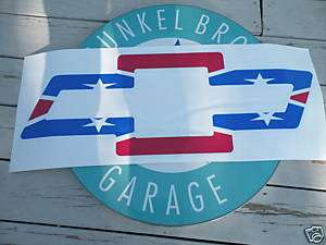 CHEVY BOWTIE REBEL REDNECK FLAG VINYL DECAL   LARGE