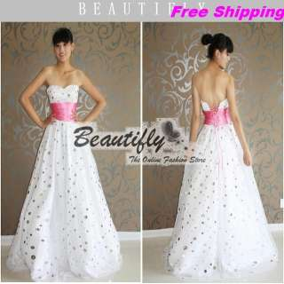 Elegant Formal Gown Evening Bridal Wedding Ball Dress