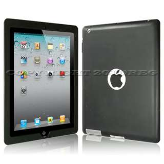 Black Silicone Case Cover Skin for Apple iPad 2 3G WIFI