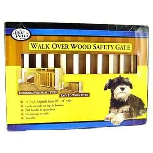 Walk Over Wooden Dog Cat Pet Expandable Safety Gate with Door NEW