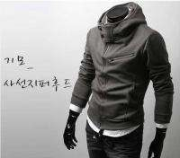 NEW Mens Multi Zips Fashion Korean Style Hoodie Sweater Jacket Dark