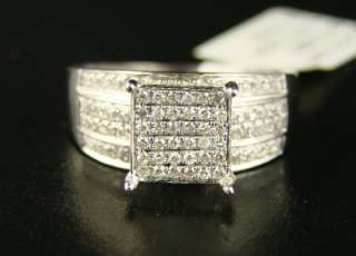 LADIES WOMENS DIAMOND ENGAGEMENT SQUARE SHAPE RING .75