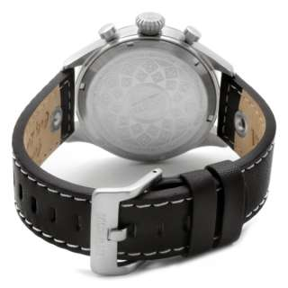 Invicta Swiss ChronoGraph Mens Black Dial Black Calf Leather Strap