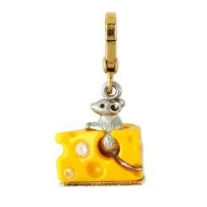 NEW Authentic JUICY COUTURE Mouse Cheese gold charm Jewelry Bracelet