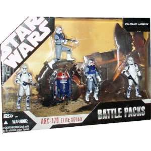 Star Wars TAC Exclusive ARC 170 Elite Squad Battle Pack Toys & Games
