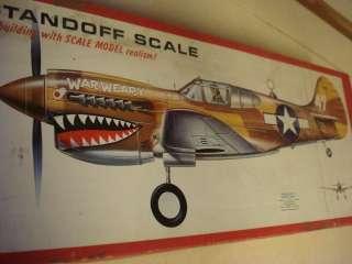 TOP FLITE P 40 WARHAWK RADIO CONTROLLED MODEL AIRPLANE KIT
