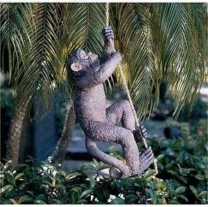 Exotic Climbing Rope Chimpanzee Monkey Wildlife Yard and Garden Statue