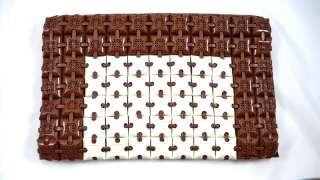 Vintage Plasticflex Clutch Purse Bag Brown/White 1940s
