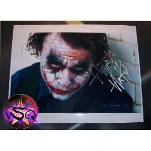 The Dark Knight Signed By Heath Ledger! The Joker! Autographed