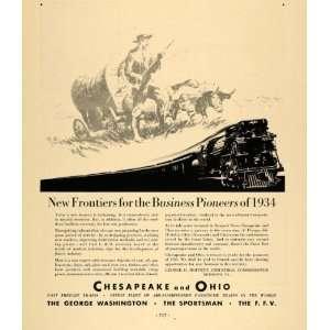 1933 Ad Chesapeake Ohio Pioneer Sportsman Train F.F.V