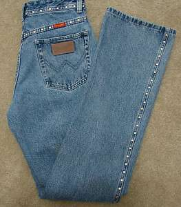 Ladies Studded Wrangler Boot Cut Jeans 11MWZRD 100% Cotton (7/36) Mint