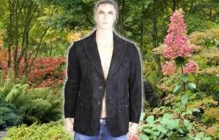 Versace Mens Leather Jacket (blazer) Italian size 48. US size medium