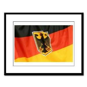 Large Framed Print German Flag Waving