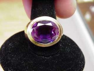 Vintage Mens Large Alexandrite Signet Style Ring in 14k Rose Gold