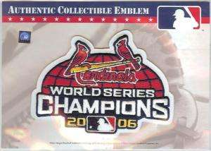 2006 ST. LOUIS CARDINALS WORLD SERIES CHAMPIONS PATCH