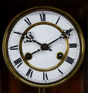 Antique German wall clock Thomas Ernst Haller Uhrenfabrik