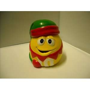 M&Ms Yellow As Elf Christmas Candy Jar New Without Tag