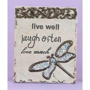 Decoration Mosaic Wall Plaque Hanging Live Love Laugh