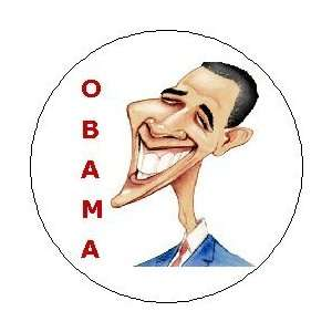 Barack Obama Cartoon Pinback Button Pin