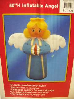 50 Christmas Angel Wings Blue inflatable NEW airblown yard light