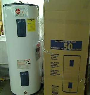 83VR52 2 High Efficiency Tall Electric Water Heater, 50 Gallon