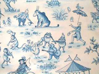 TURVY JUNGLE DRAPERY UPHOL TOILE KIDS NURSERY FABRIC 3 COLORS~