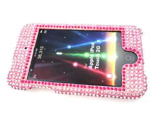 BLING CRYSTAL FACEPLATE CASE COVER APPLE iTOUCH 2ND 3RD GEN