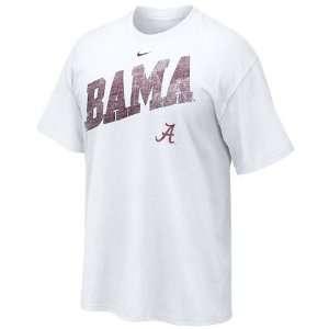 Nike Alabama Crimson Tide White Off Campus T shirt