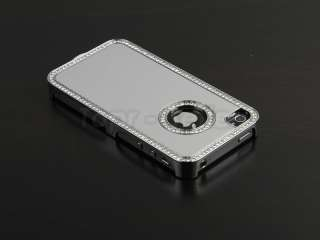 Diamond Aluminium Case Cover iPhone 4 4S 4G + Screen Films