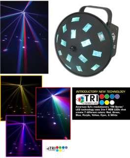 AMERICAN DJ Vertigo Tri Led RGB Spinning Multi Colored Lighting Effect