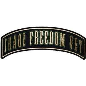 IRAQI FREEDOM VET Rocker Military VET Biker Vest Patch