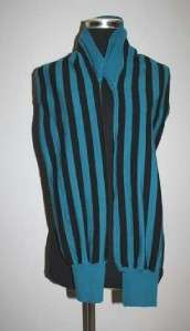 Garcons comme le fashion Asymmetric Stripes des Sleeves Cardigan/Scarf